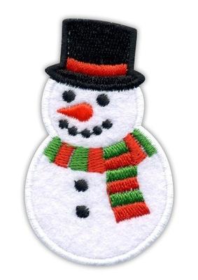 Полоса снеговик , снеговик - зима Снег - вышивка -