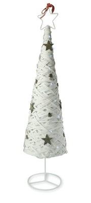 Vianočný stromček - STROM WIKLINOWA LED BIELA 98 CM DEKORÁCIE VIANOČNÉ