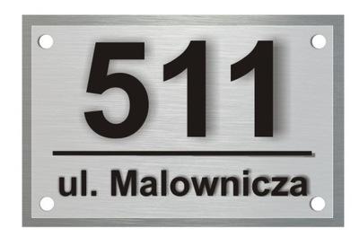 Pole adresa Hliníkové 30x40 cm 3D Číslo Domu