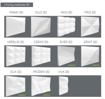 Fronty meblowe 3D - surowy mdf lub lakierowany
