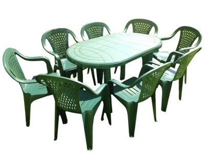комплект МЕБЕЛИ стулья 8 +1 стол пластик