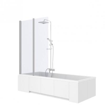 Sprchové dvere - REA AGAT 2-elementová vaňová obrazovka. 80cm sklo