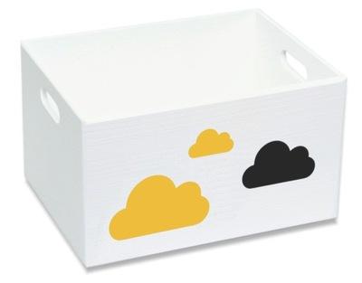 Drevený box na hračky, nádoby L cloud