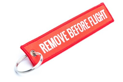 prívesok Keychain pre kľúče, RBF Odstrániť Pred Letom