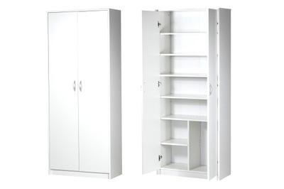шкаф Стеллаж Закрыт Белый , Лорен , полка