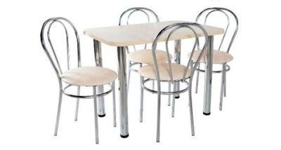 комплект Кухня стол 70x120 +4 стулья TULIP