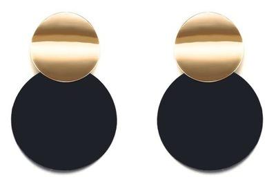 серьги висящий Колеса кольца Круглые золотые черные