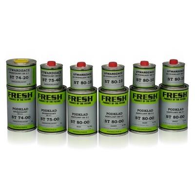 FRESH-Podkład HS 5:1 x 6szt + PISTOLET 1,8 mm