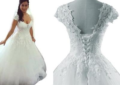19c1f69969fbf0 suknia ślubna z koronką ŚLUB CYWILNY 36 S na JUŻ - 6525999139 ...