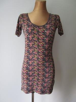 844b6a2268 40 42 Urocza bluzeczka w kwiatowe wzory - 48 - 7145761188 ...