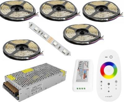 SÚPRAVA 25m PÁSKY LED RGB 5050 diaľkové ovládanie TOUCH NÁPLŇ