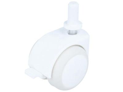 кольцо мебельное fi50 с тормозом резинка белое втулка