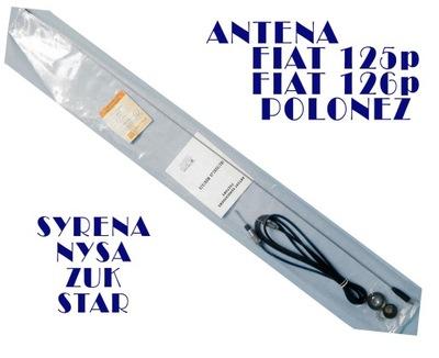 ANTENA CHROM FIAT 125p 126p FSO POLONEZ UNITRA