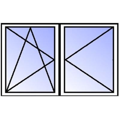 Окно белое 2 - ??????????   ???  RU/R 1165x1135mm ciepł