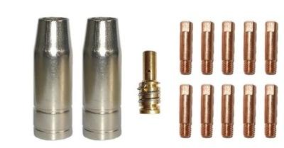 ZESTAW CZĘŚCI MIGOMAT MB14 0,8mm DYSZE KOŃCÓWKI