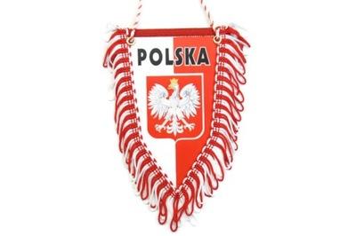 PROPORCZYK pięciokątny flaga POLSKA TIR BUS