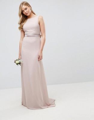 e20e4ebb TFNC Fioletowa Maxi Asymetryczna Sukienka L/40