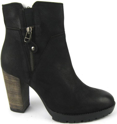 allgro botki damskie czarne kowboju
