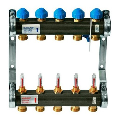 Podlahové vykurovanie - Distribútor 12 obvodov podlahového vykurovania WATTS 1