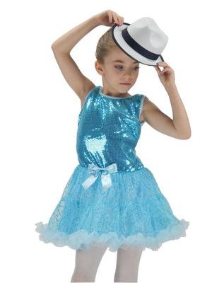 sukienka DISCO BLUE taniec TUTU PC099  4-5lat