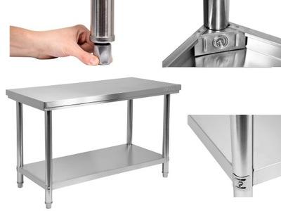 Pracovný stôl, stavebný podstavec -  YATO PRACOVNÁ TABUĽKA 150x60cm NEREZOVÝ OCEL