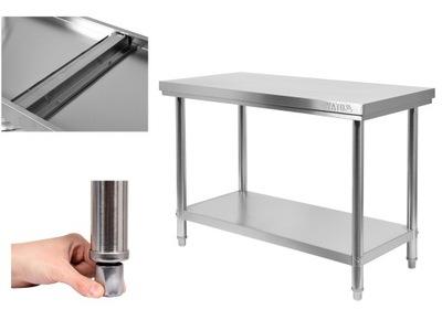 Pracovný stôl, stavebný podstavec -  YATO PRACOVNÁ TABUĽKA 100x60cm NEREZOVÝ OCEL