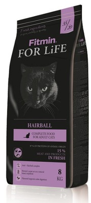 Fitmin FOR LIFE ADULT Cat 8КГ кот HAIRBALL +
