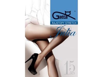 Rajstopy GATTA stretch Julia kolory 15den 4(L)