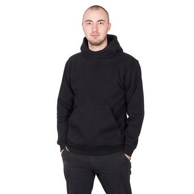 TheCo - Gładka bluza z kapturem - czarny - L