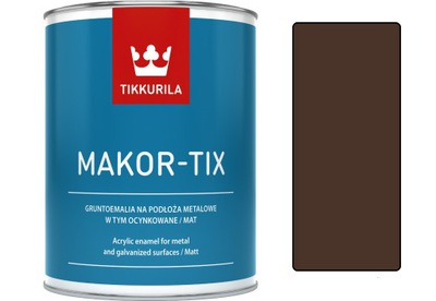 Tikkurila Makor-tix farba, pozinkované 1L čokoládovo hnedá
