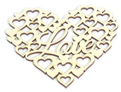 декупаж Декор АЖУРНОЕ сердце Love 150x140mm RW65