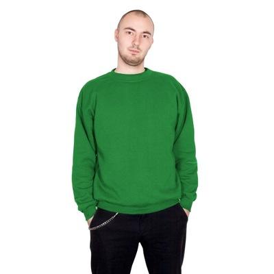TheCo - Gładka bluza bez kaptura - zielony - XL
