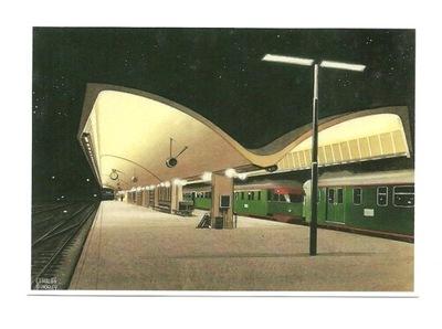 П / я. - Ch.Бурка, Перон на вокзале в Роттердаме