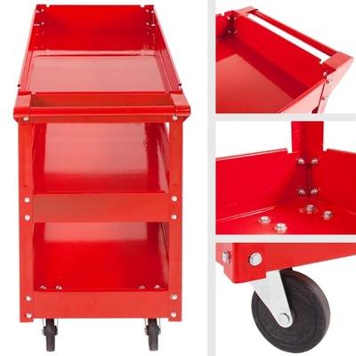 3-poziomowy Wózek Warsztatowy 2 sztuki 402422
