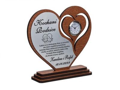 благодарность для Родителей гравер сердце часы _