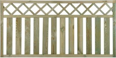Tieniacia clona na plot - Plot 90x180 zábradlie na terasu v ráme