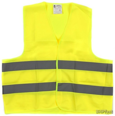 жилет предупреждения - светоотражающая желтый разм. L