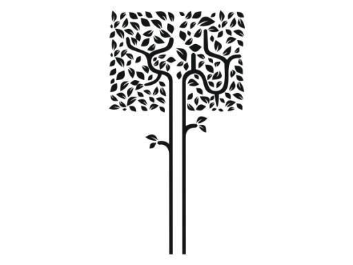Naklejka Dekoracyjna, Drzewo Drzewko kwadrat ! 165