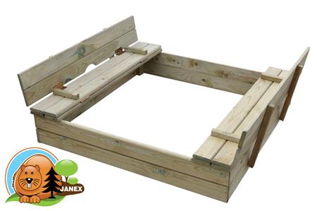 Piaskownica drewniana 110x110x20 cm