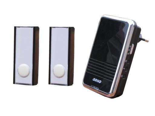 Dzwonek bezprzewodowy 230V OR-DB-QS-113+2przyciski