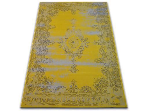 DYWAN VINTAGE 140x200 ROZETA żółty TRADYCJA #B100