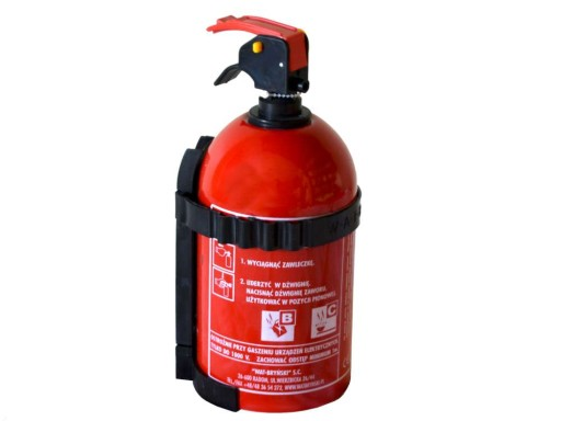 FIRE EXTINGUISHER POWDER 1KG BC Z HOOK FREE OF CHARGE 1 kg