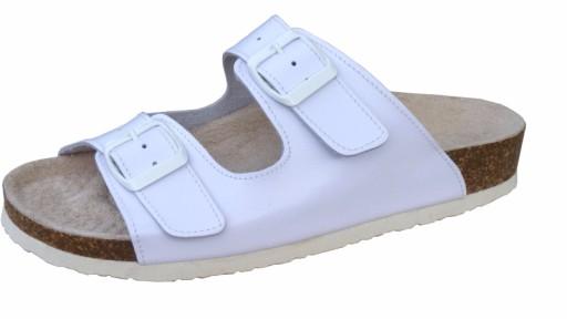 allegro klapki medyczne białe