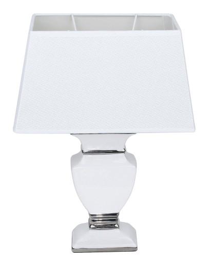 Lampka biała srebrna glamour do salonu sypialni 35