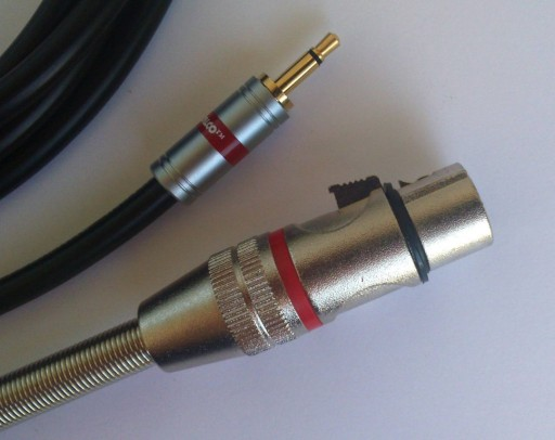 IMG kabel  mini Jack mono / XLR  żeński 3P    0.5m