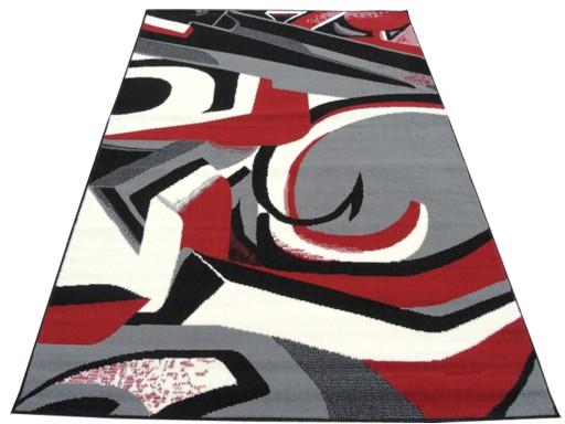 Dywany Młodzieżowe Graffo Black Red 140x200 Neoart