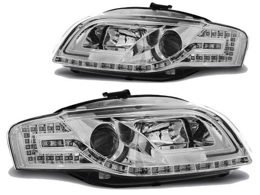 Lampy Reflektory AUDI A4 B7 04-08 LED TUBE+KIERUNE