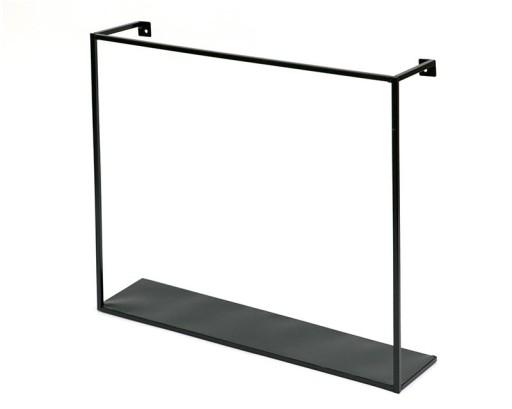Półka Czarna Metalowa 45x40cm Nowoczesna ścienna
