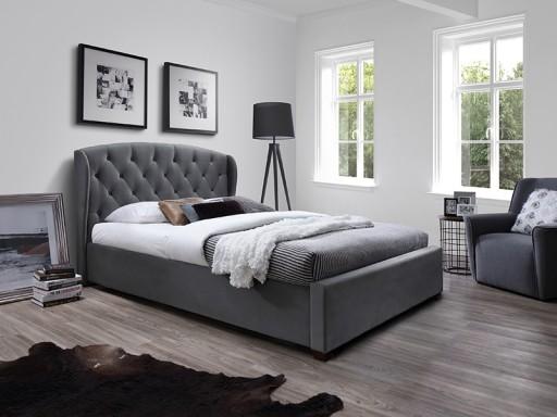 łóżko Tapicerowane Sabrina 180x200 Szare Halmar
