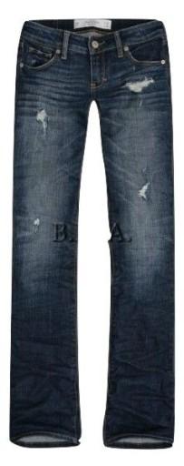 ABERCROMBIE Hollister spodnie JEANSY dziury 28/31